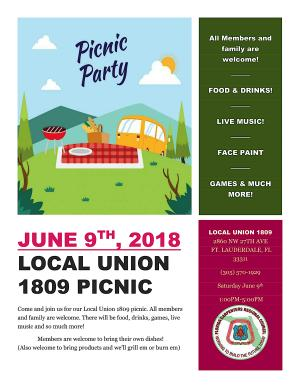 Local 1809 Summer Picnic Announced